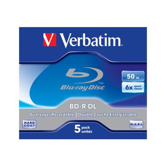 Verbatim - 5stk 50GB BD-R DL 6x