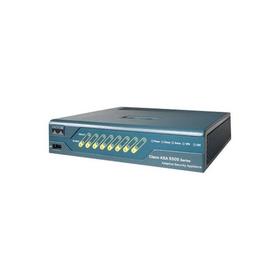 Cisco ASA 5505 Firewall Edition Bundle - sikkerhedsudstyr - med Cisco Advanced Inspection and Prevention Security Services Card 5 (AIP-SSC-5)