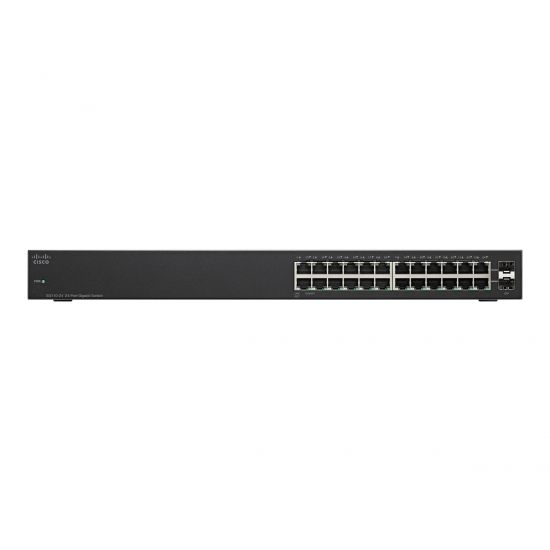 Cisco Small Business SG110-24HP - switch - 24 porte - ikke administreret - monterbar på stativ