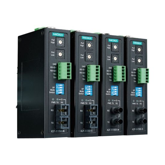 Moxa ICF-1150-S-ST-T - fibermedieomformer - RS-232, RS-485, RS-442