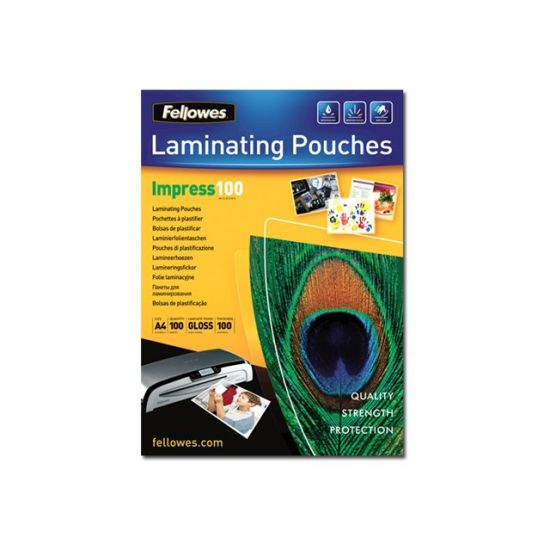 Fellowes Laminating Pouches Impress 100 Micron - 100-pakke - blank - A3 - laminerings poser