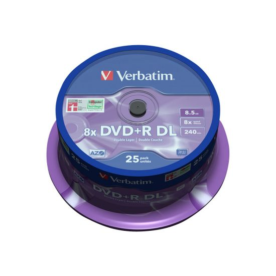 Verbatim - DVD+R DL x 25 - 8.5 GB - lagringsmedie