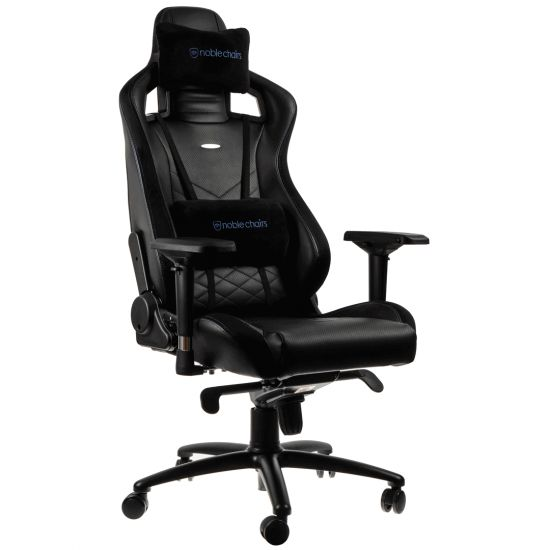 noblechairs EPIC Series Faux Leather black/blue