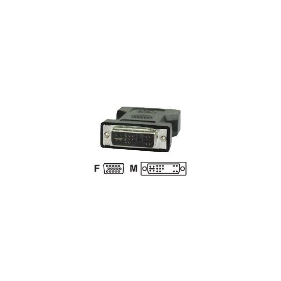 Deltaco display-adapter - VGA D-Sub (HD-15) hun til DVI Han