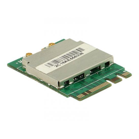 DeLock Module M.2 Key A+E male > WLAN 11ac/a/b/g/n + Bluetooth 4.0 - netværksadapter