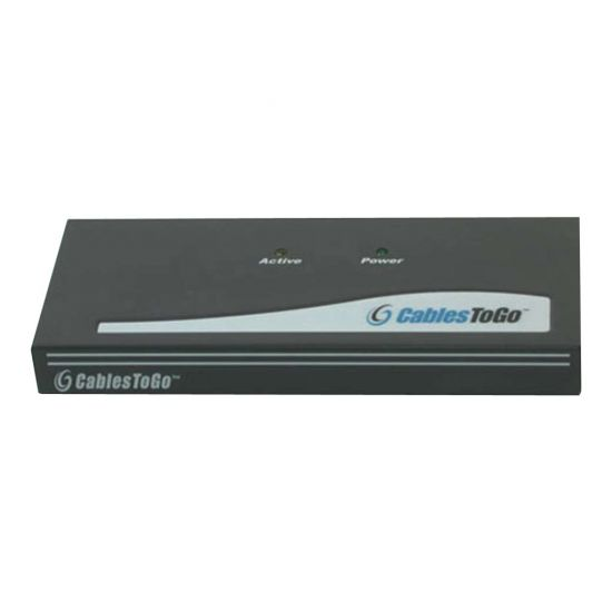 C2G 4-Port UXGA Monitor Splitter/Extender (Male Input) - videosplitter - 4 porte