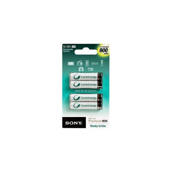 Sony Premium NH-AAA-B4GN - batteri - AAA type - NiMH x 4