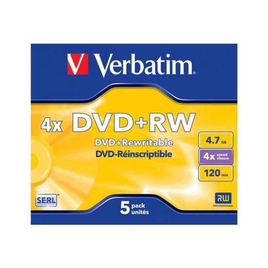 Verbatim DataLifePlus - DVD+RW x 5 - 4.7 GB - lagringsmedie