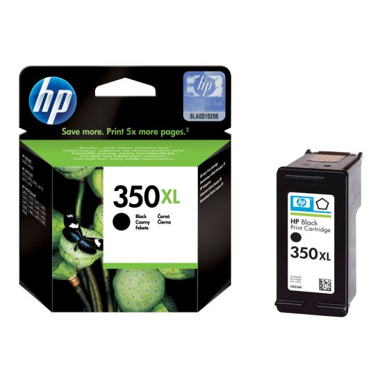 HP 350XL - Højtydende - sort - original - blækpatron