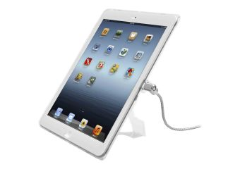 Compulocks iPad Lockable Case Bundle With Combination Cable Lock and iPad Air Security Case / Cover Clear