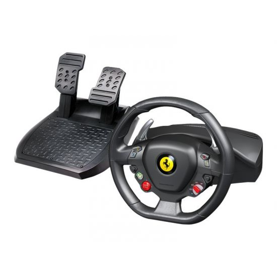 Thrustmaster Ferrari 458 Italia - rat og pedalsæt - kabling