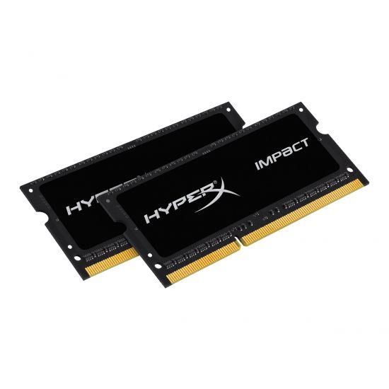HyperX Impact Black Series &#45 8GB: 2x4GB &#45 DDR3L &#45 1600MHz &#45 SO DIMM 204-PIN
