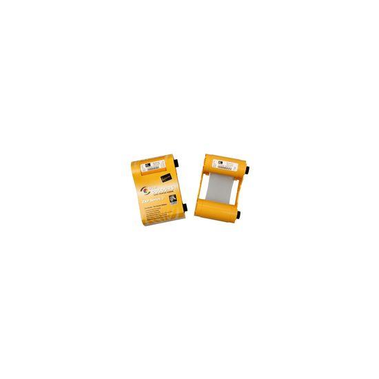 Zebra ix Series YMCKO - 1 - høj kapacitet - farve (cyan, magenta, gul, kul sort, klar overflade) - printbånd kassette med rengøringsrulle