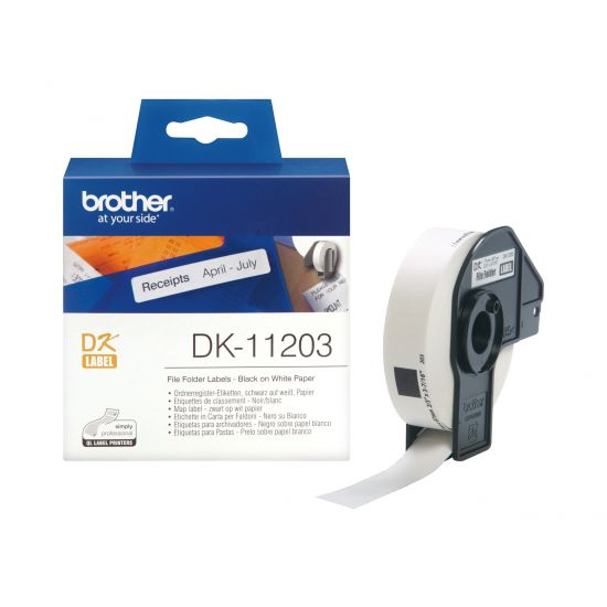 Brother DK-11203 - etiketter til filmapper - 300 etikette(r) - 17 x 87 mm