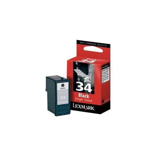Lexmark Cartridge No. 34 - Højtydende - sort - original - blækpatron