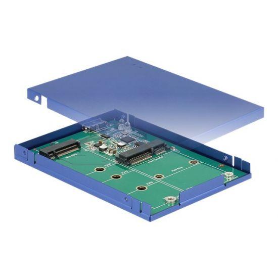 DeLOCK - lagringspakning - M.2 Card / mSATA - USB 3.1 (Gen 2)