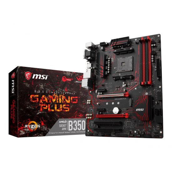 MSI B350 GAMING PLUS - bundkort - ATX - Socket AM4 - AMD B350 FCH