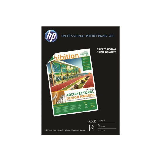 HP Professional Glossy Paper - fotopapir - 100 ark