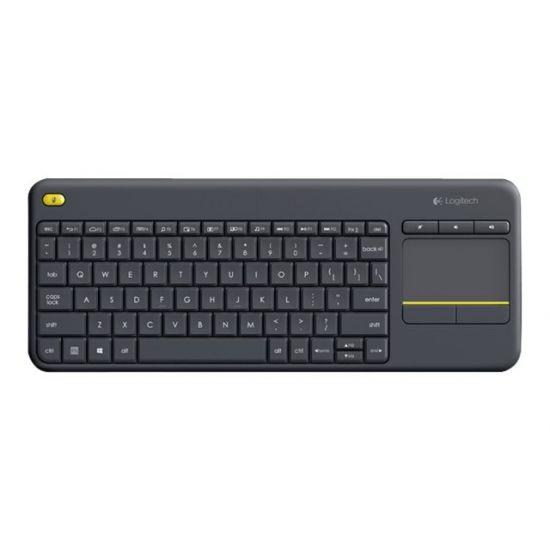 Logitech Wireless Touch Keyboard K400 Plus - tastatur - Dansk/Finsk/Norsk/Svensk - sort