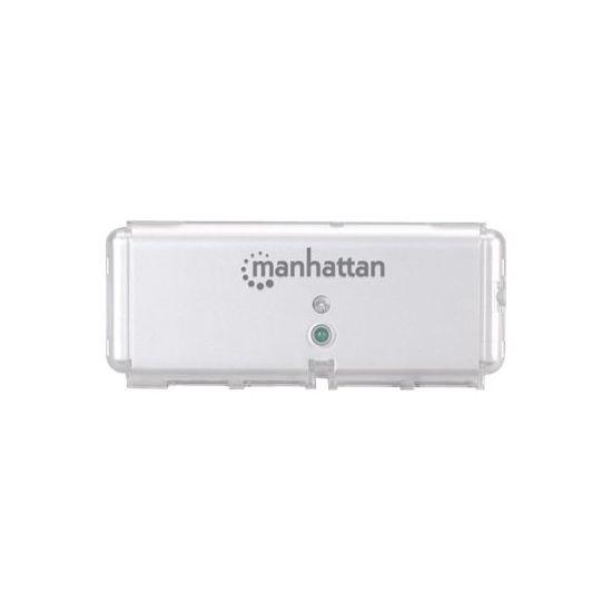 Manhattan Hi-Speed USB 2.0 Pocket Hub - hub - 4 porte