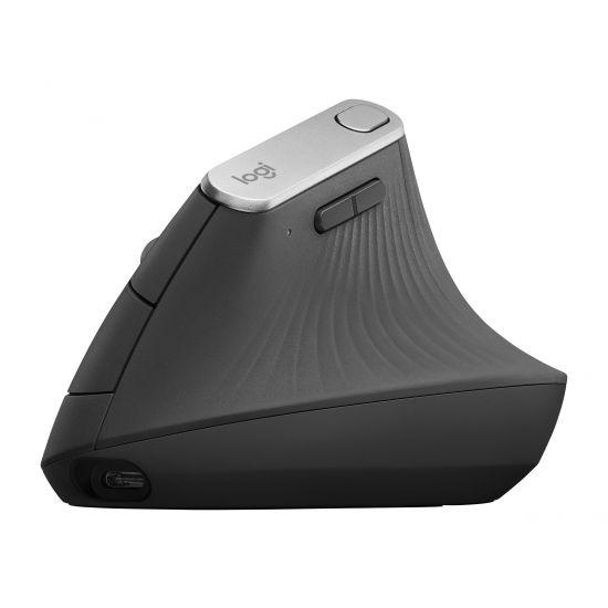 Logitech MX Vertical - mus - USB, Bluetooth, 2.4 GHz - grafit