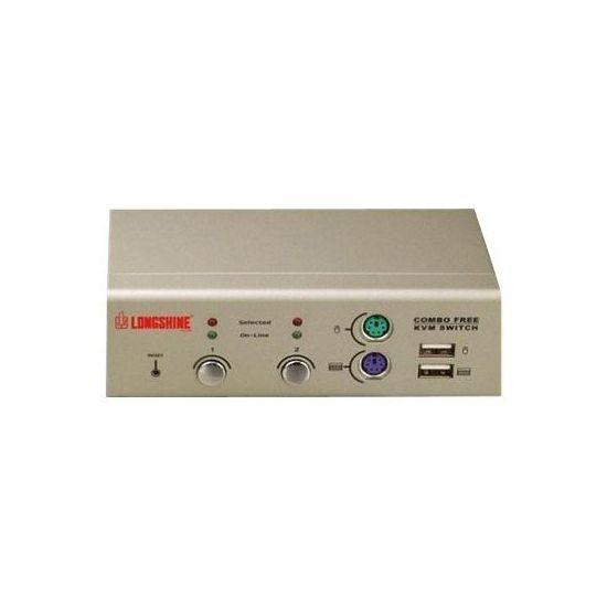 Longshine LCS-K702 - KVM switch - 2 porte