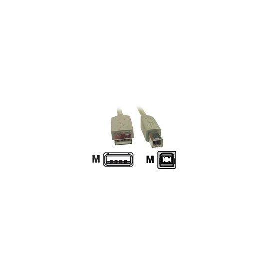 DELTACO USB B til USB A 2m Grå