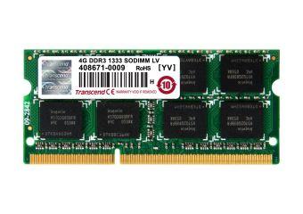 Transcend &#45 4GB &#45 DDR3L &#45 1333MHz &#45 SO DIMM 204-PIN