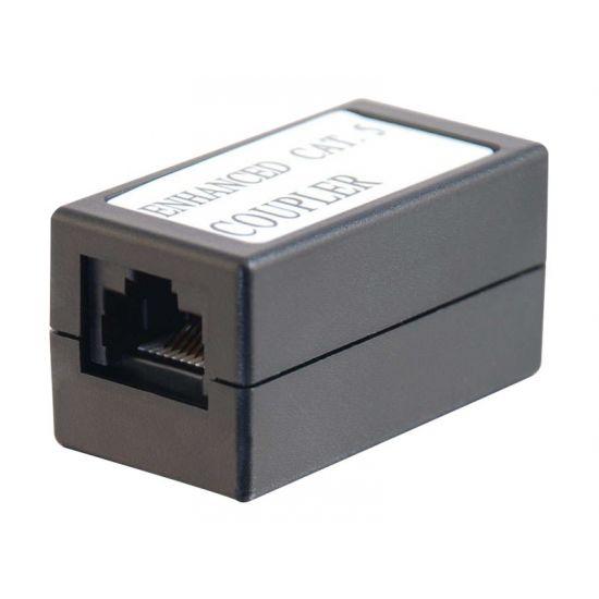 C2G In-line Modular Coupler - telefonkobling - sort