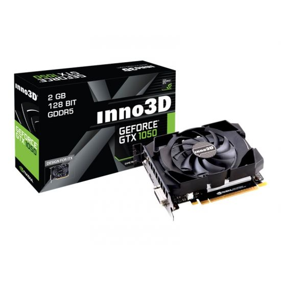 Inno3D GeForce GTX 1050 Compact &#45 NVIDIA GTX1050 &#45 2GB GDDR5 - PCI Express 3.0 x16
