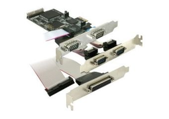 DeLock PCI Express card 4 x serial, 1x parallel