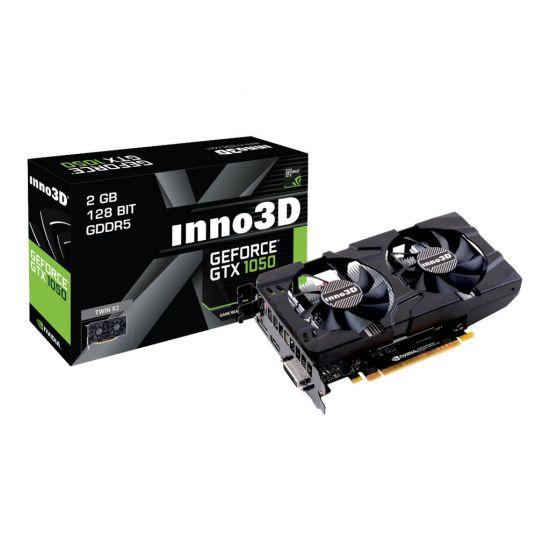 Inno3D GeForce GTX 1050 Twin X2 &#45 NVIDIA GTX1050 &#45 2GB GDDR5 - PCI Express 3.0 x16