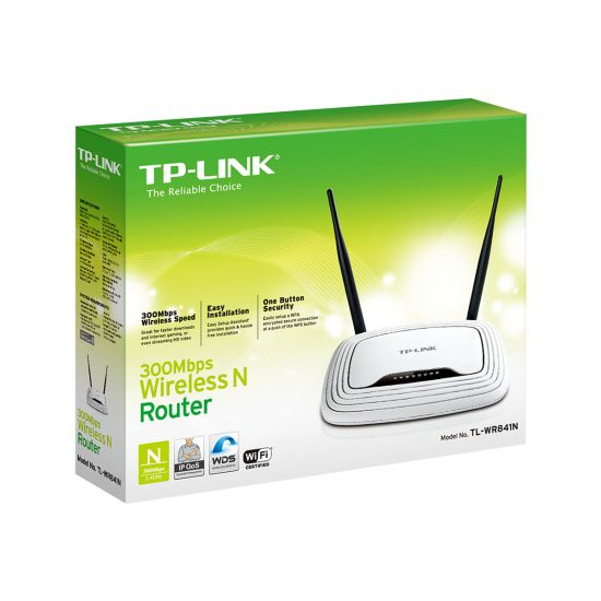 TP-Link TL-WR841N 300Mbps Wireless N Router - trådløs router - 802.11b/g/n (draft 2.0) - desktop