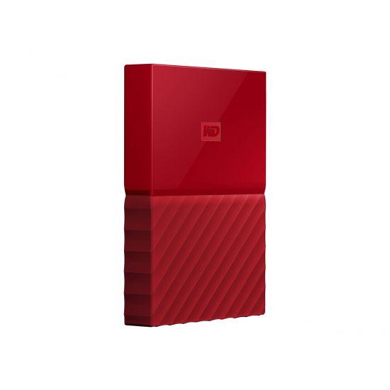 WD My Passport WDBYNN0010BRD &#45 1TB - USB 3.0 - Rød