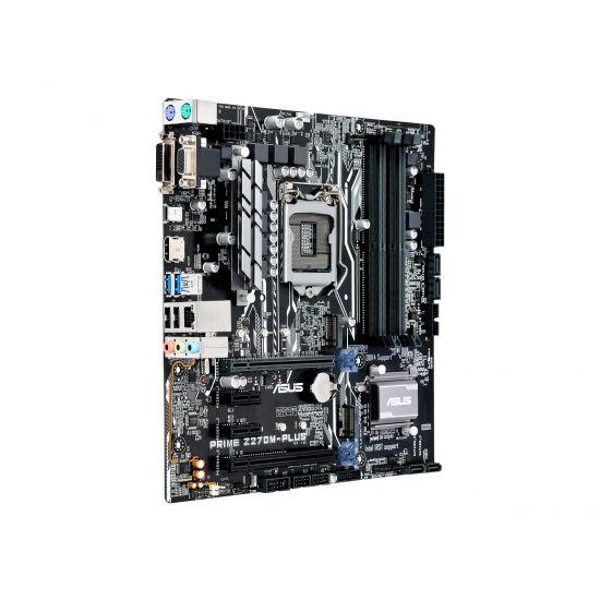 ASUS PRIME Z270M-PLUS - bundkort - micro-ATX - LGA1151 Socket - Z270