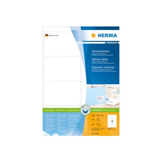 HERMA Premium - laminerede adressemærkater - 800 etikette(r)