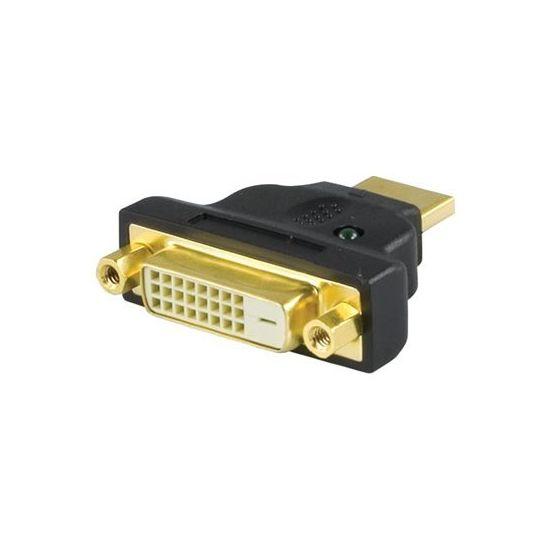 Deltaco videoadapter - HDMI Type A han til DVI-D hun