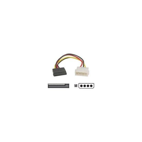 Deltaco intern strømkabel Serial ATA-harddiske vinklede stik - Molex