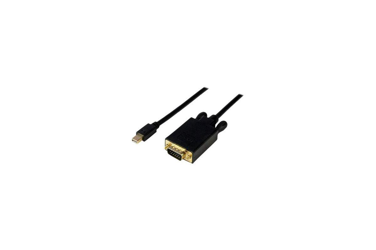 StarTech.com 10ft Mini DisplayPort to VGA Adapter Cable mDP to VGA Black