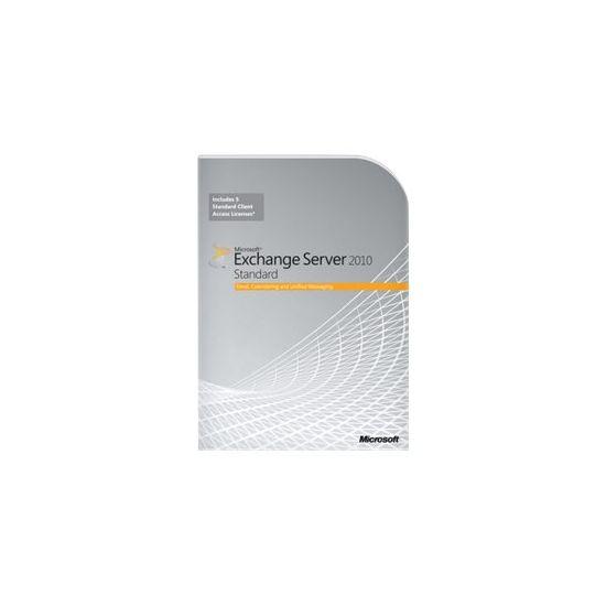 Microsoft Exchange Server 2010 Standard Edition - bokspakke - 1 server, 5 CALs