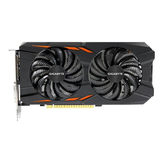 Gigabyte GeForce GTX 1050 Ti Windforce OC 4G &#45 NVIDIA GTX1050Ti &#45 4GB GDDR5 - PCI Express 3.0 x16