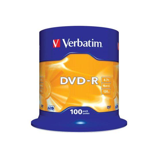 Verbatim - DVD-R x 100 - 4.7 GB - lagringsmedie