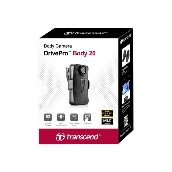 Transcend DrivePro Body 20 - Videokamera - intern flash hukommelse