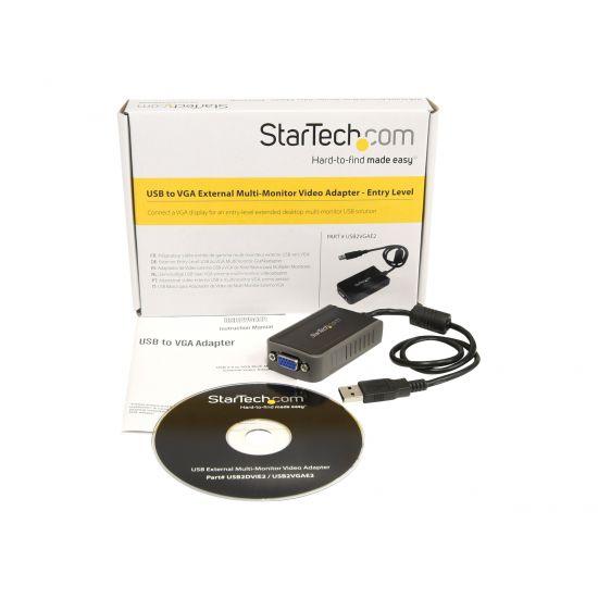 StarTech.com USB to VGA Multi Monitor External Video Adapter - ekstern videoadapter - 16 MB - grå
