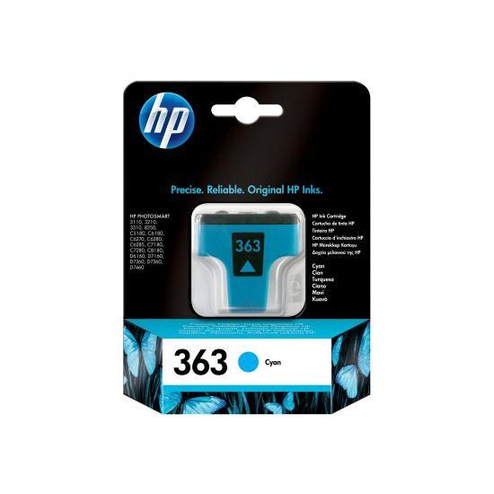 HP 363 - cyan - original - blækpatron