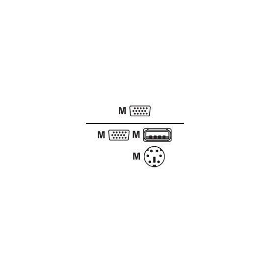 LevelOne ACC-2101 - kabel til tastatur / video / mus (KVM) - 1.8 m