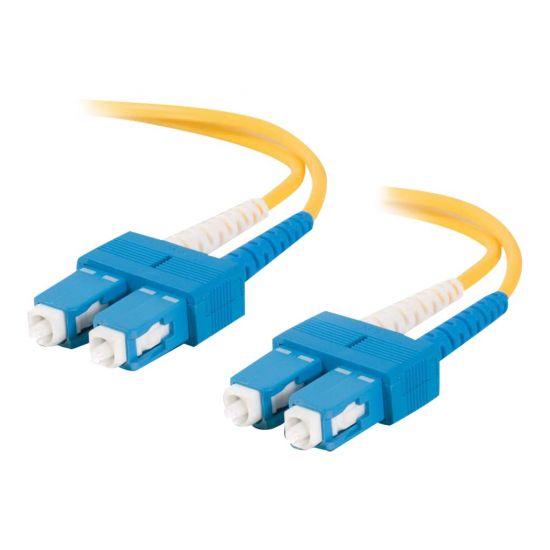 C2G SC-SC 9/125 OS1 Duplex Singlemode PVC Fiber Optic Cable (LSZH) - patchkabel - 2 m. - gul