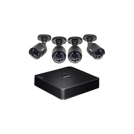 TRENDnet TV-DVR104K - DVR + kamera(er) - trådet