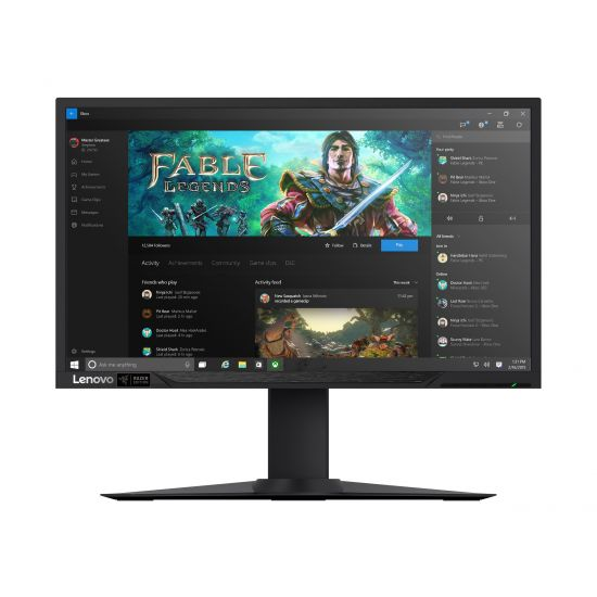 "Lenovo Y27g Gaming &#45 WLED 27"" NVIDIA G-SYNC VA - Full HD 1920x1080 ved 144Hz"
