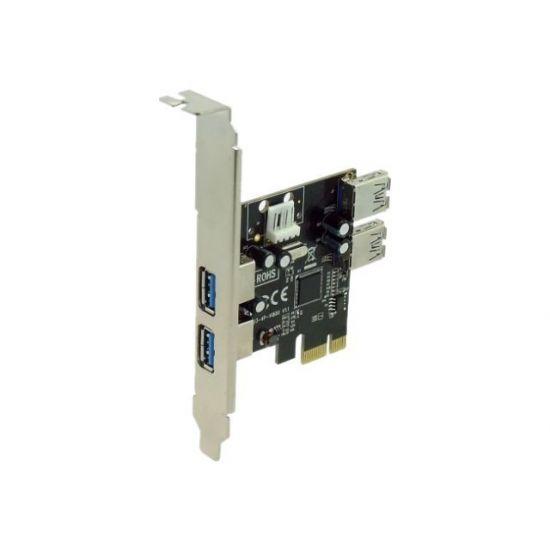 Sedna SE-PCIE-USB3-4 - USB-adapter - 4 porte